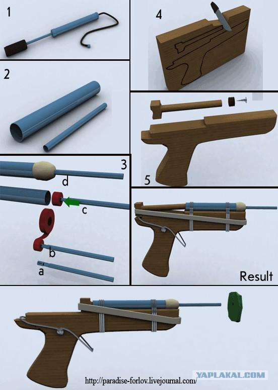 Как сделать ружье  в домашних